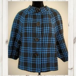 jackets coats nwt the limited l black blue plaid jacket doman